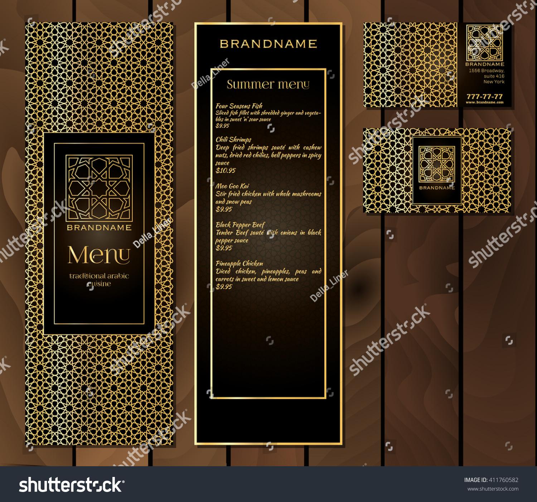 Vector Illustration Menu Design Restaurant Cafe Stock Vector