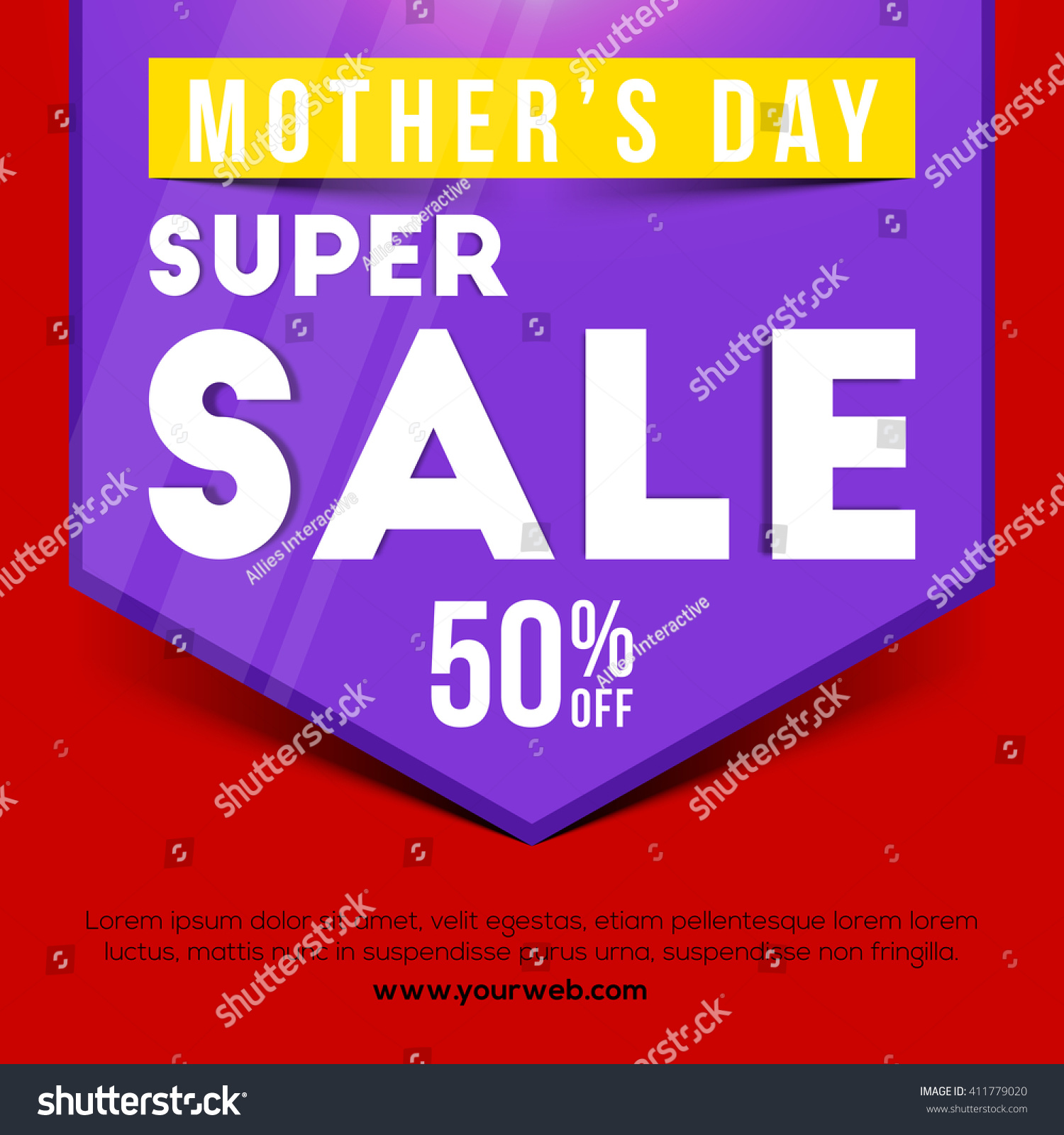 Motheru0027s Day Sale, Super Sale Poster, Sale Banner, Sale Flyer, 50%