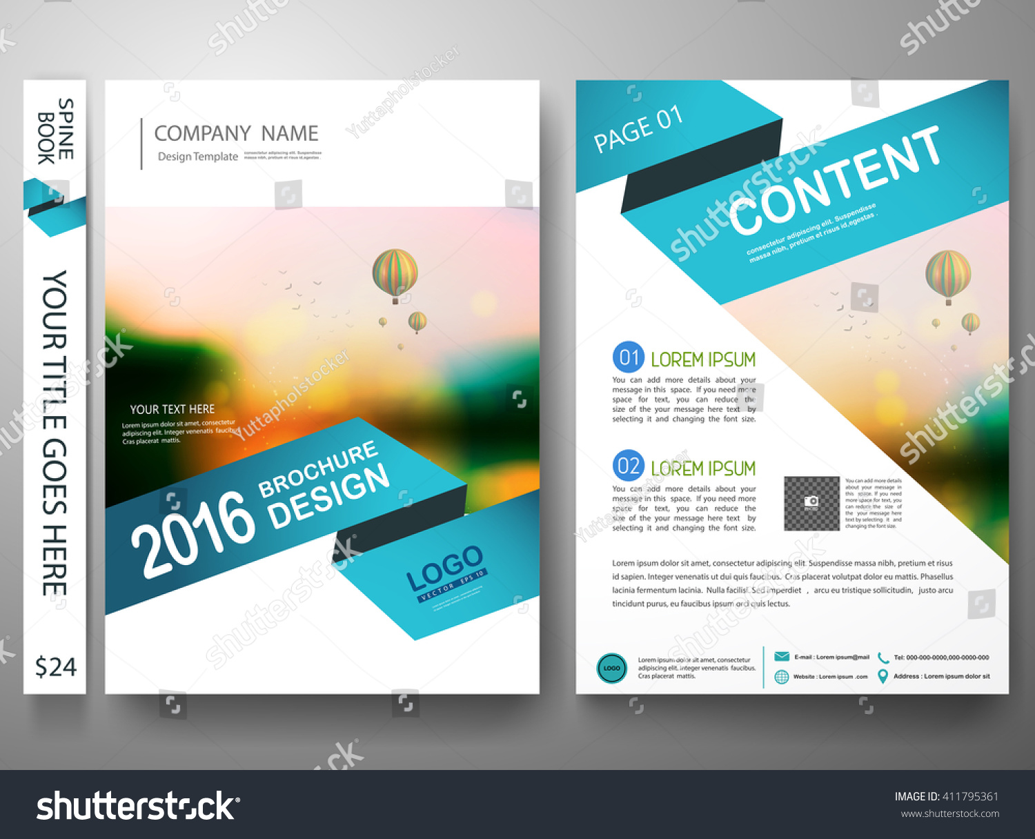 magazine cover ideas picture frame - Brochure Design Template Vector Flyers Report Stock Vector