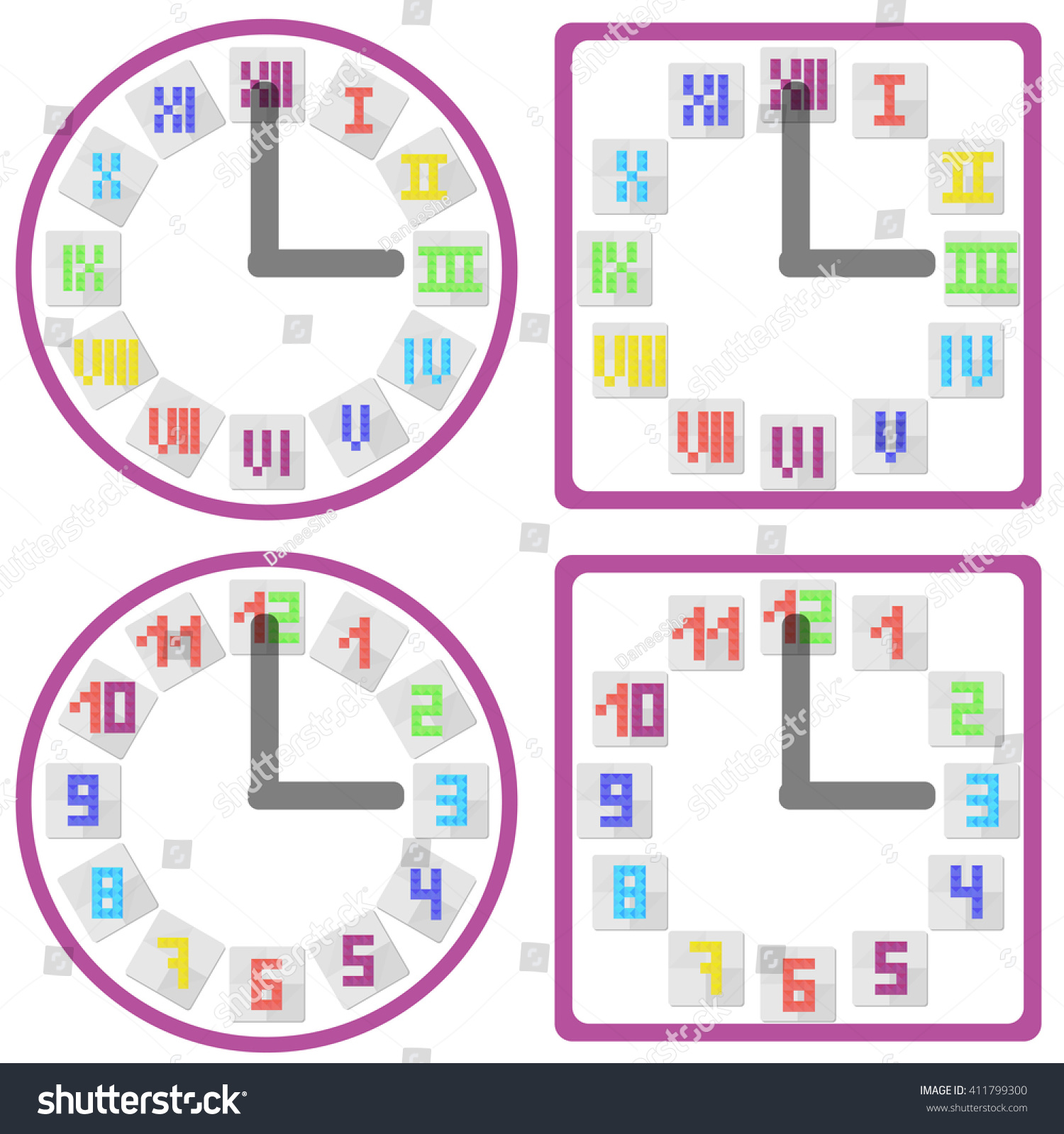 Periodic table with roman numerals images periodic table images clipart periodic table roman clock computer connector symbols set clock icons arabic roman tile stock vector gamestrikefo Gallery