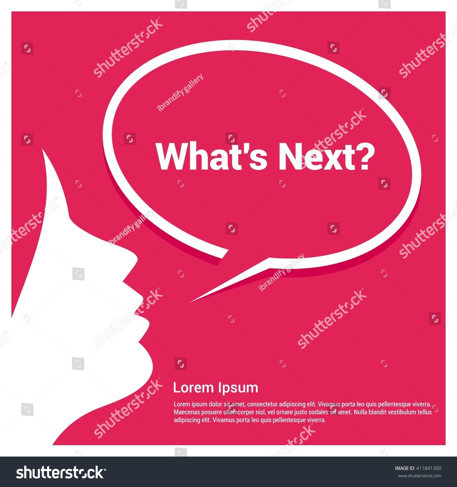 Whats Next Text Realistic Speech Bubble Stock Vector (Royalty Free