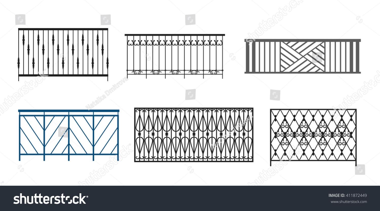 Balcony railing stock vector 411872449 shutterstock for Balcony vector