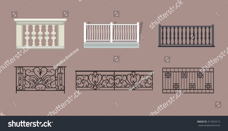 Balcony railing stock vector illustration 411872515 for Balcony vector