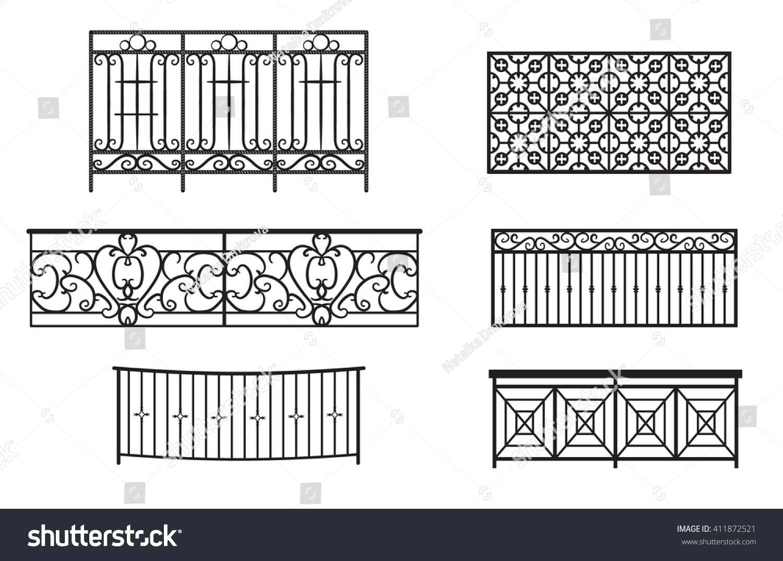 Balcony railing stock vector illustration 411872521 for Balcony vector