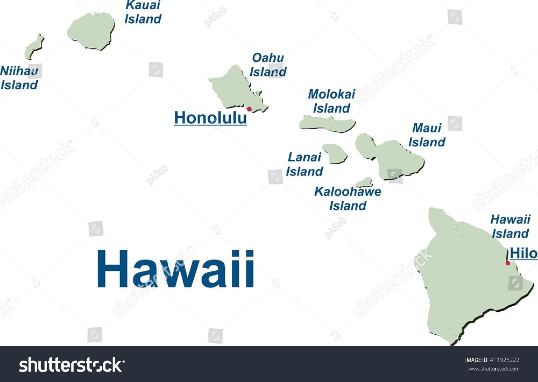 Show Map Of All Hawaiian Islands
