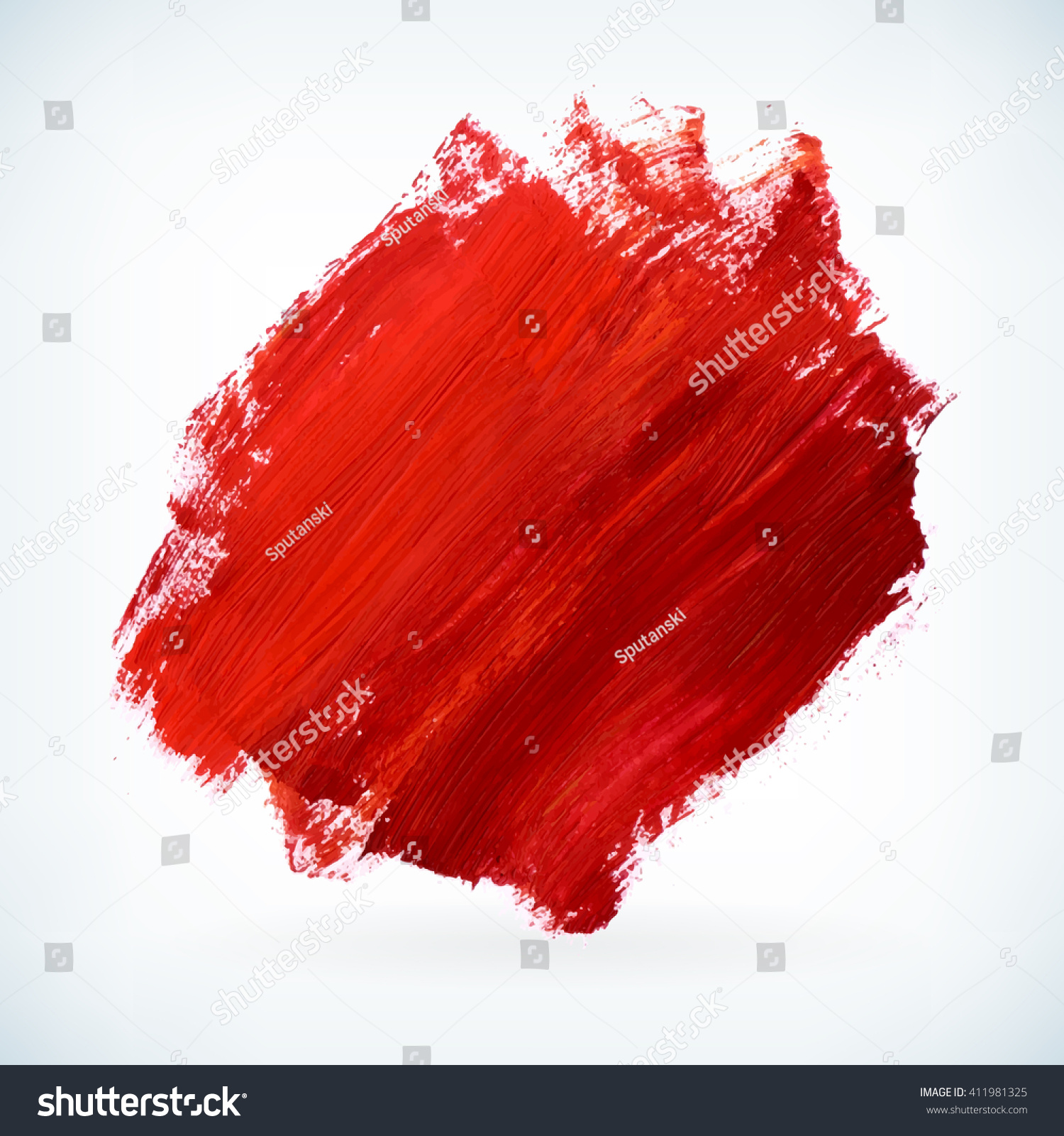 Red Paint red paint artistic dry brush stroke stock vector 411981325