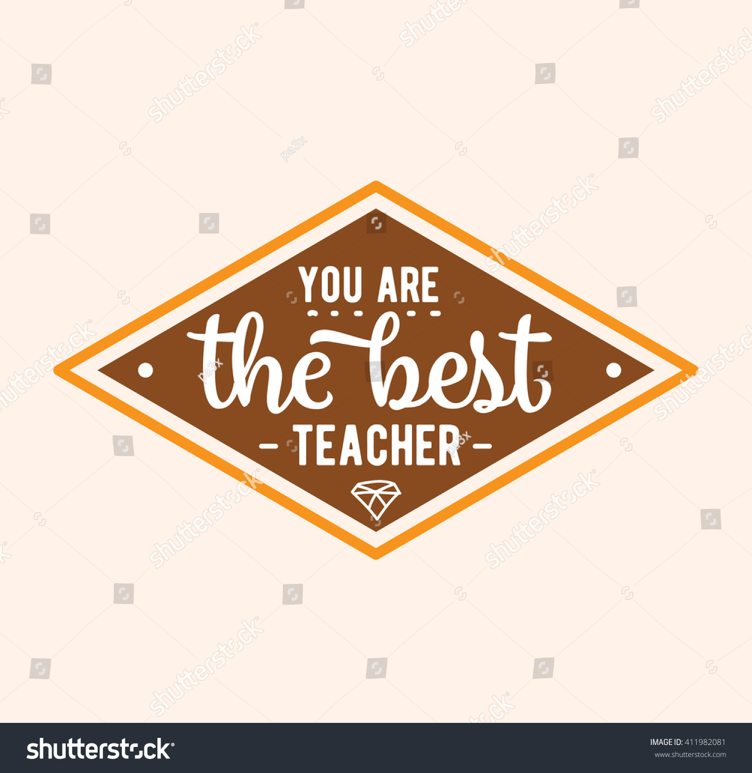 Teachers Day Vector Typography You Best Stock Vector Royalty Free