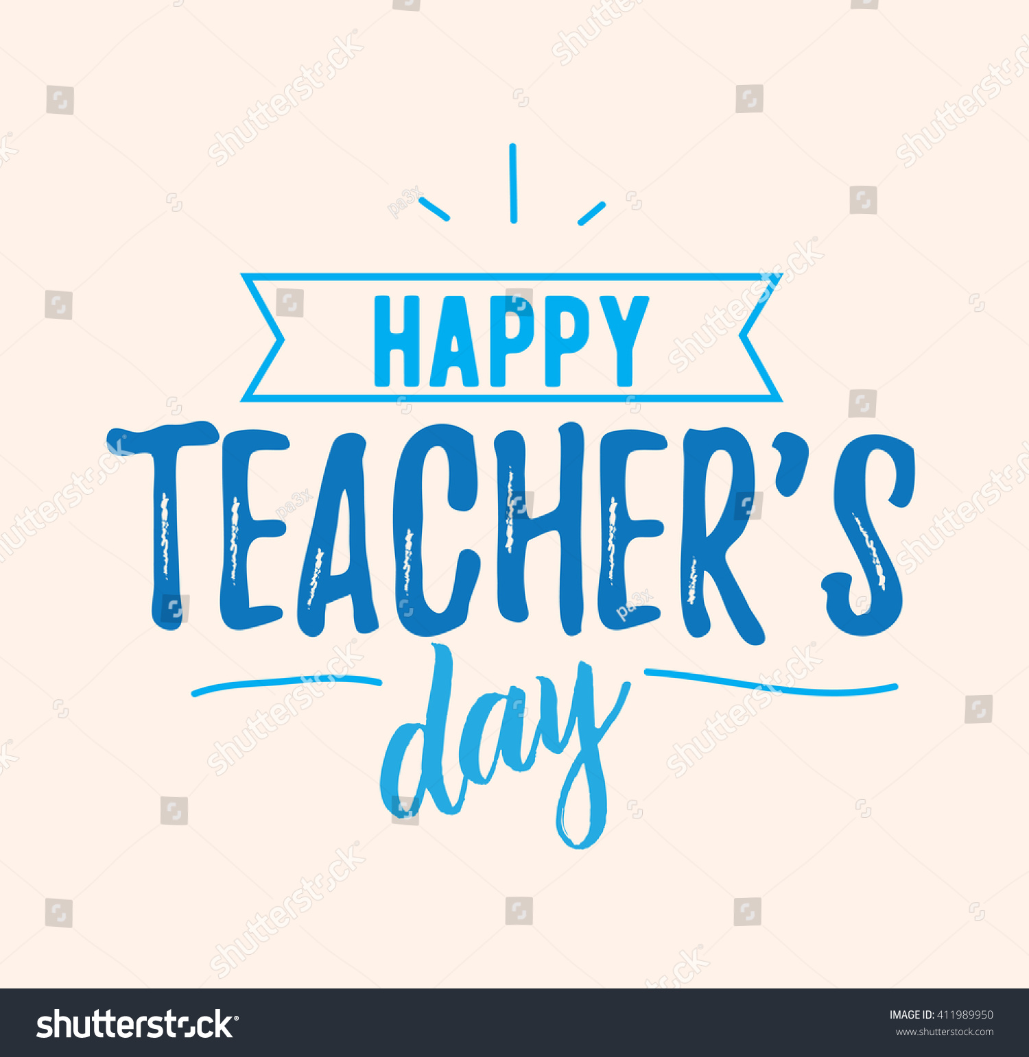 Beautiful Quotes For Teachers Day Cards: Happy Teachers Day Vector Typography Lettering Stock
