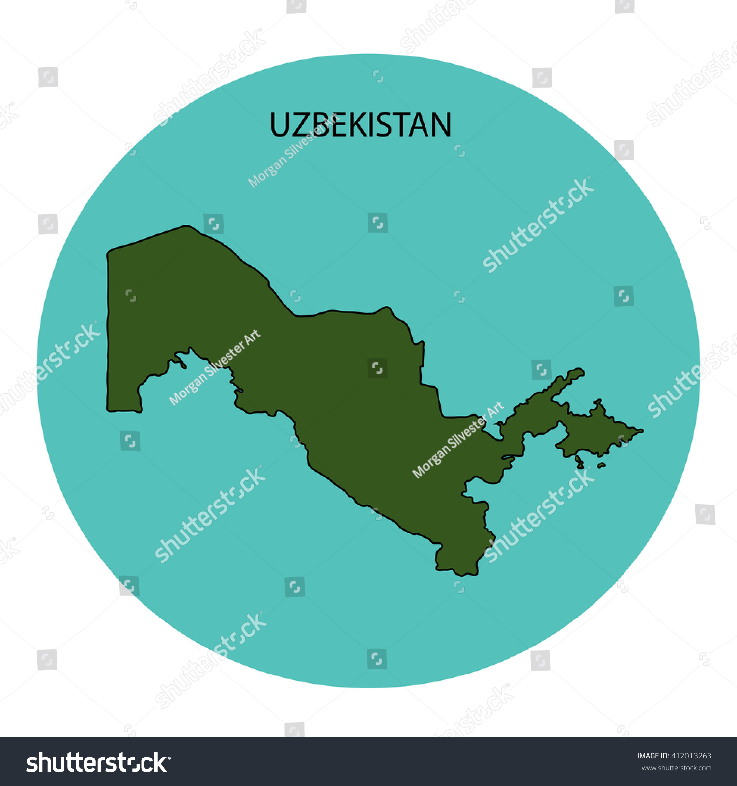 Uzbekistan Map Stock Illustration Shutterstock - Uzbekistan map