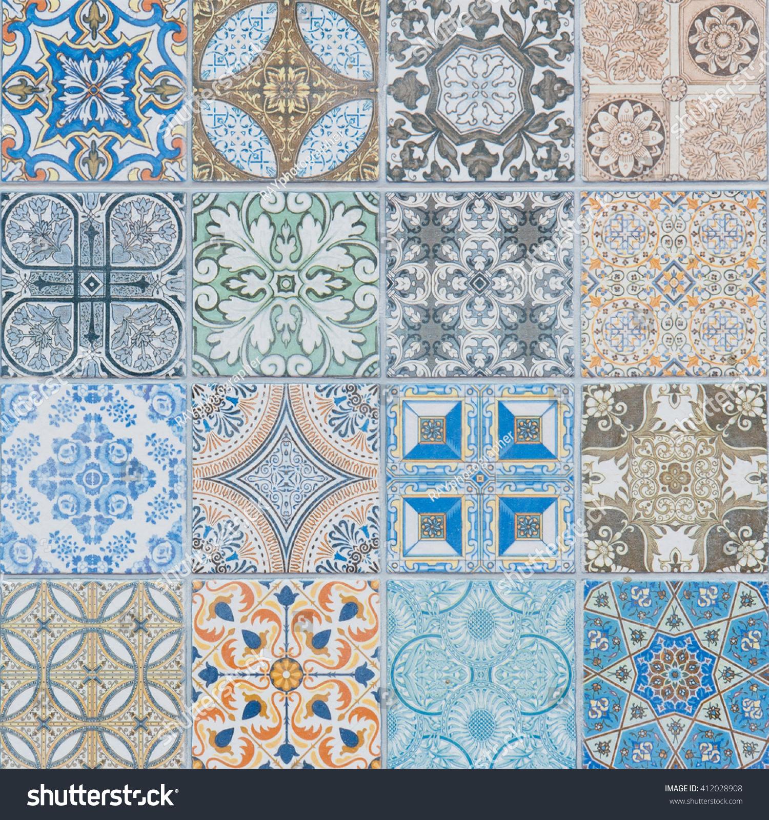 Ceramic Tiles Patterns Stock Photo (Edit Now) 412028908 - Shutterstock