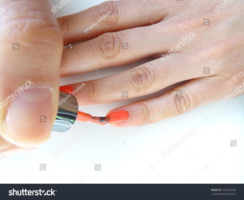 Making Nail Polish Stock Photo (100% Legal Protection) 412037038 ...