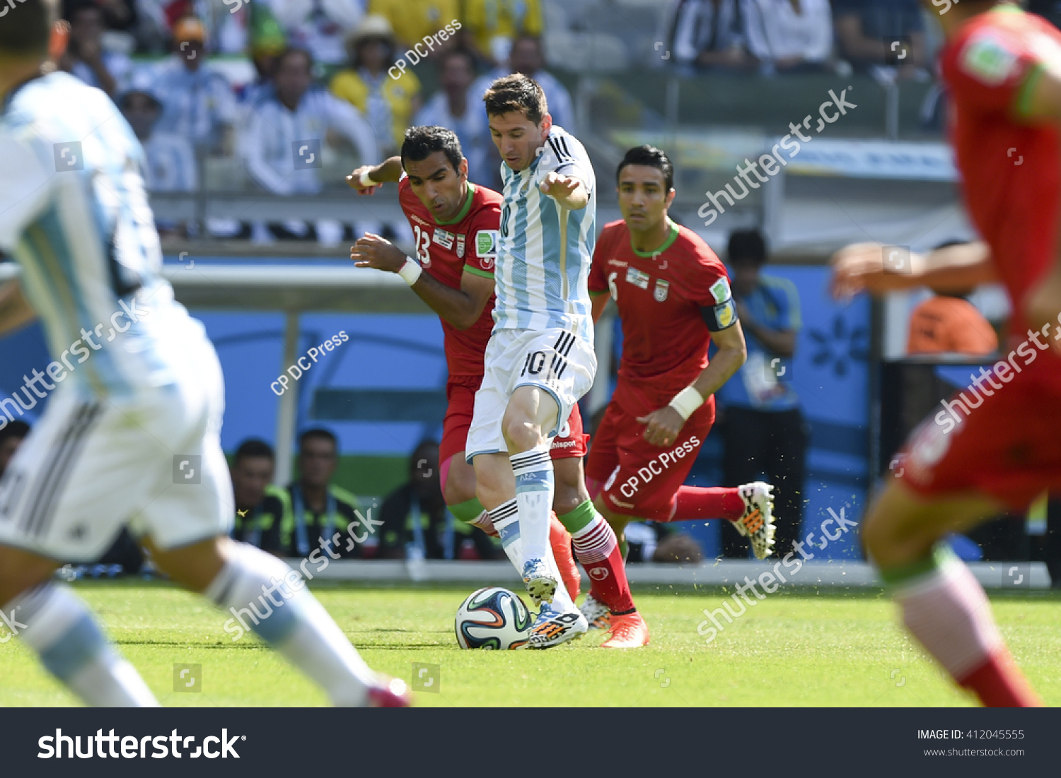 Belo Horizonte Brazil June 21 2014 Lionel MESSI of Argentina during the FIFA 2014 World Cup Argentina is facing Iran in the Group F at Minerao Stadium