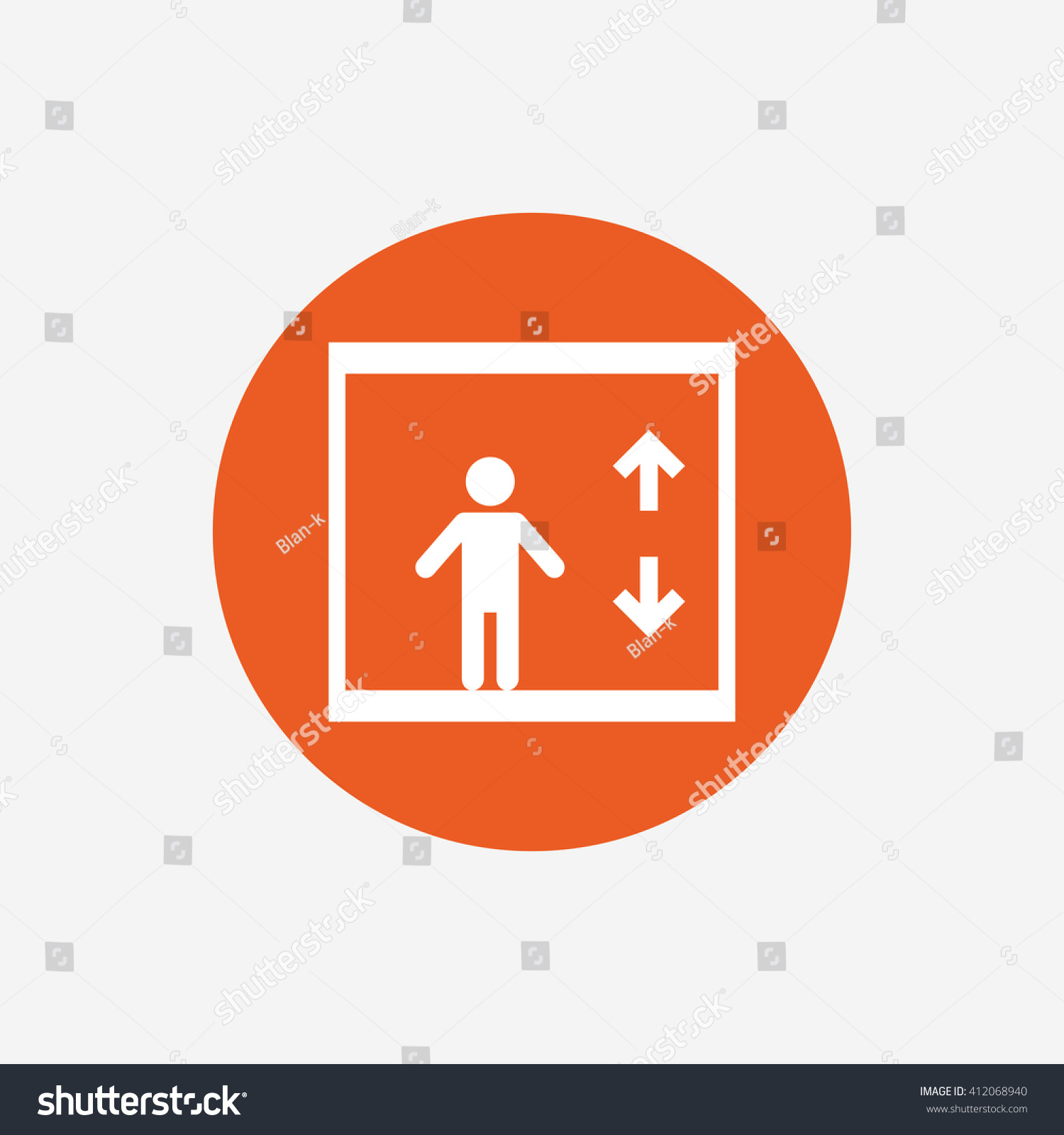 Elevator sign icon person symbol down stock vector 412068940 person symbol with up and down arrows orange circle button with biocorpaavc Choice Image