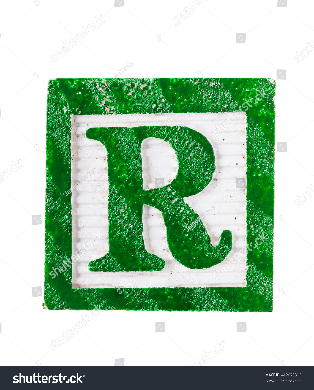 Letter R Wooden Alphabet Block Font Stock Photo Edit Now 412079302