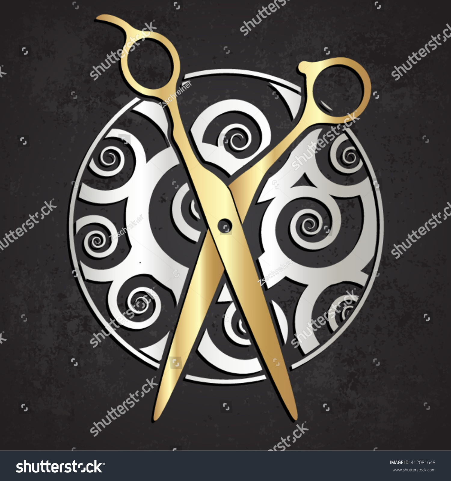 Metal scissor symbol fashion theme vector stock vector 412081648 metal scissor symbol fashion theme vector illustration biocorpaavc