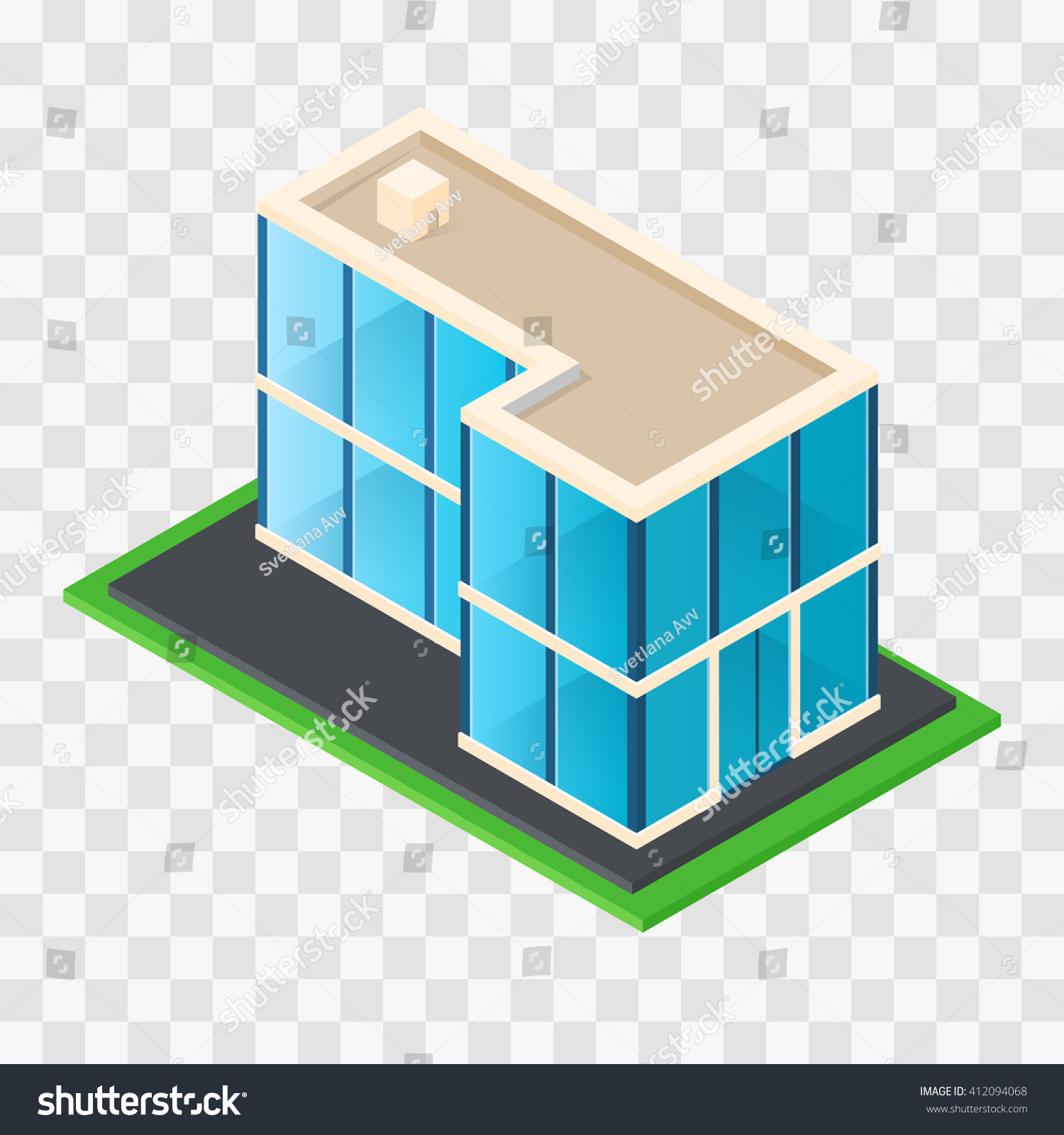 Isometric chic modern rustic cottage glass stock vector for Building a dog kennel business