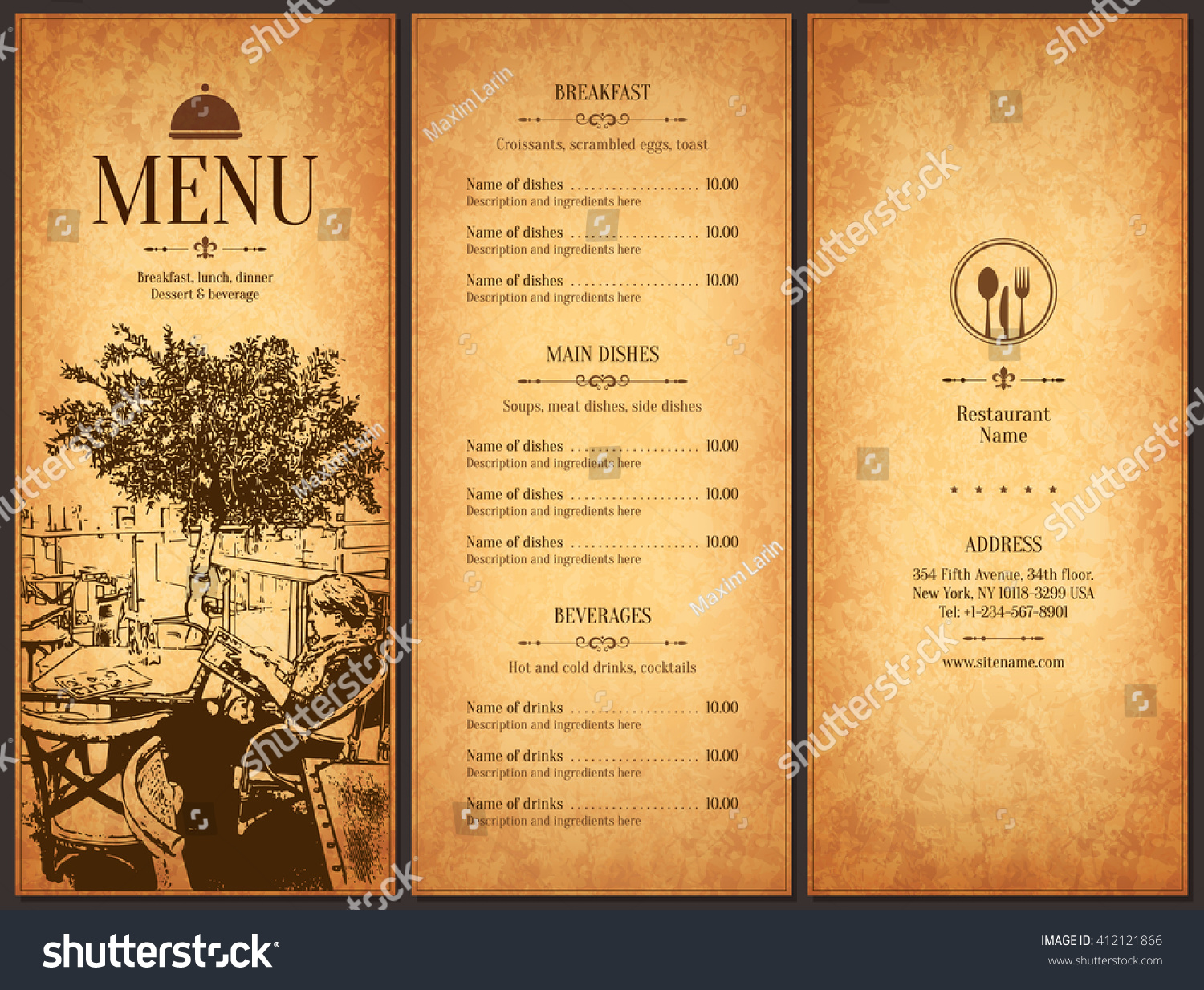 restaurant menu design vector menu brochure template for cafe vector menu brochure template for cafe coffee house restaurant