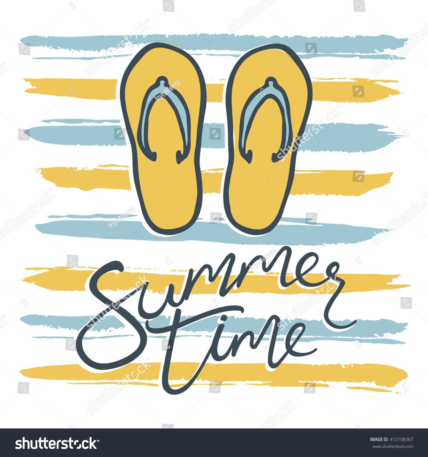 flip flops doodle summer background logo stock vector royalty free