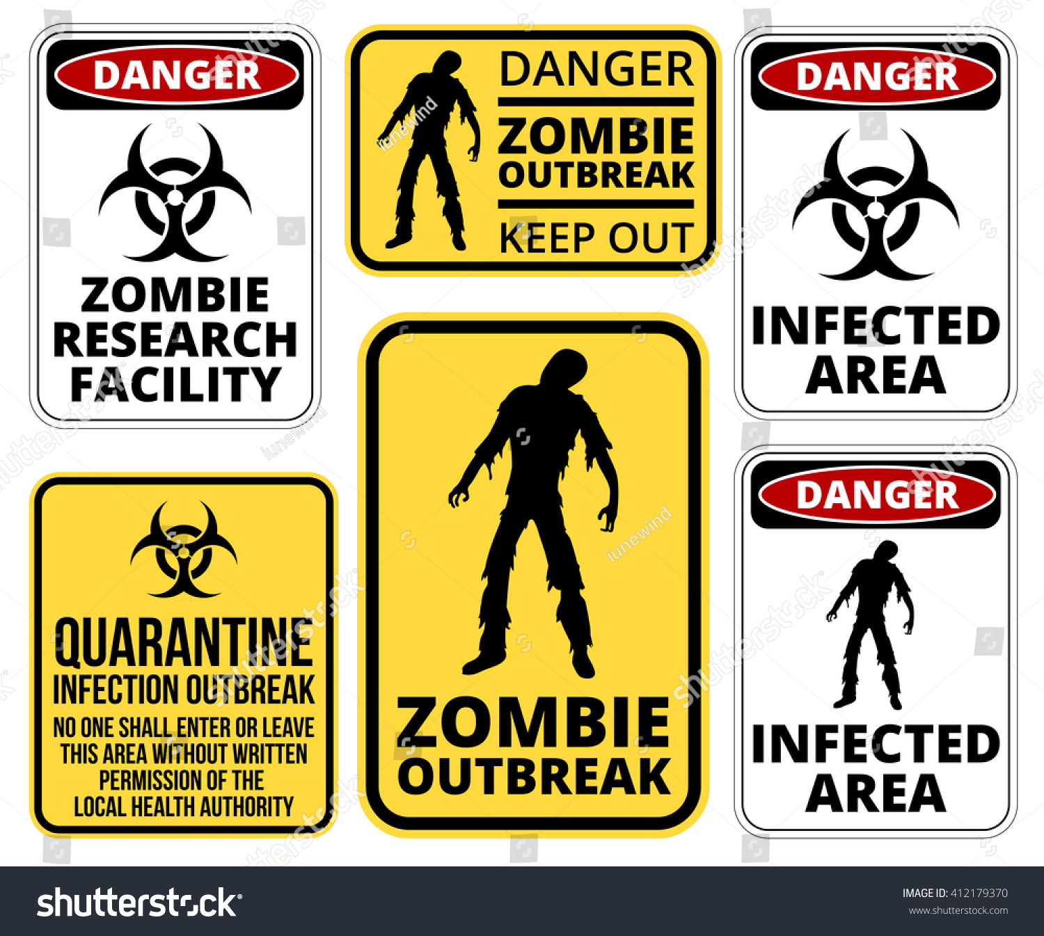 Zombie crossing infected apocalypse signs symbols stock vector zombie crossing infected apocalypse signs symbols and billboards vector eps8 biocorpaavc Image collections