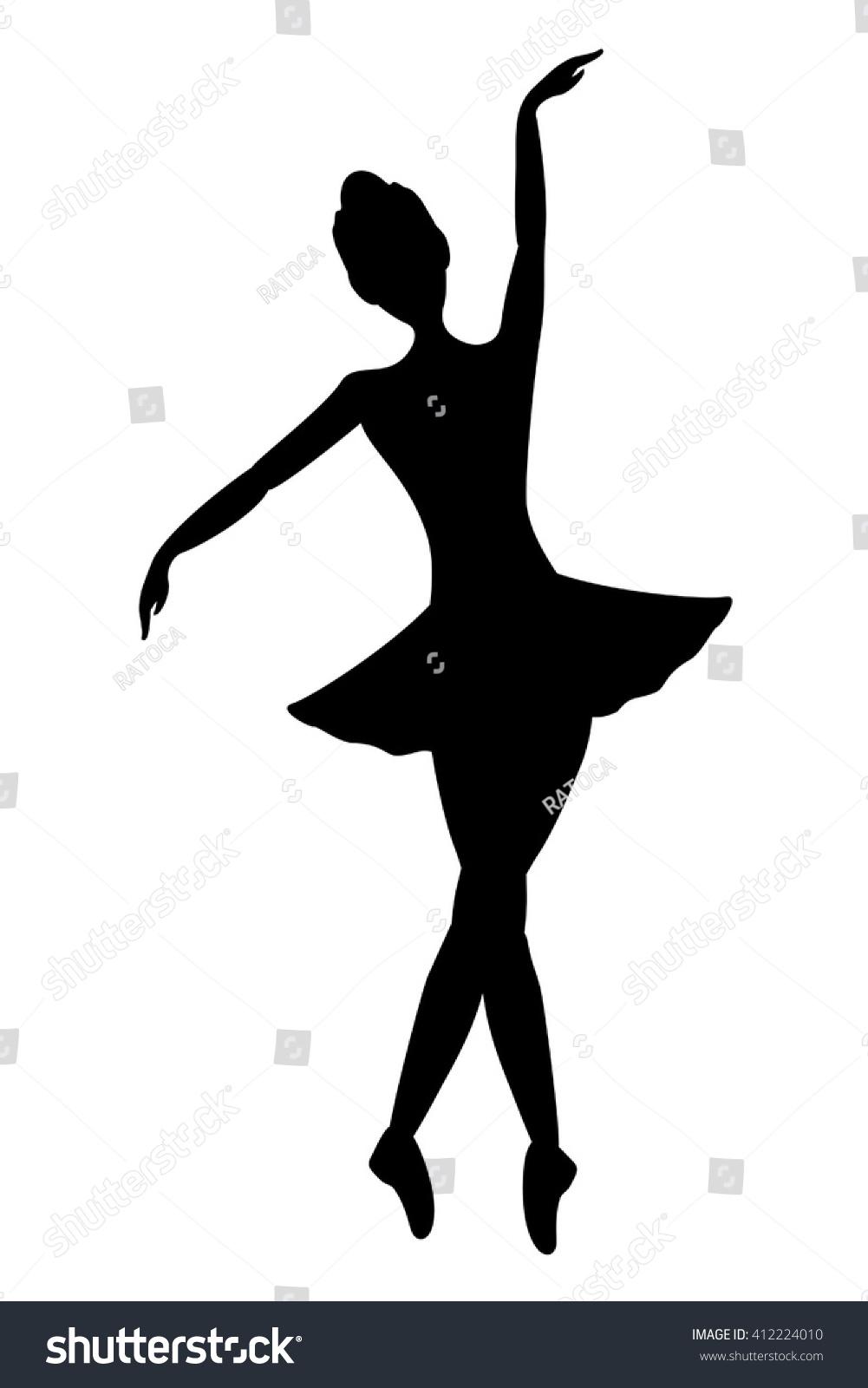 dancer girl symbol stock vector 412224010 shutterstock