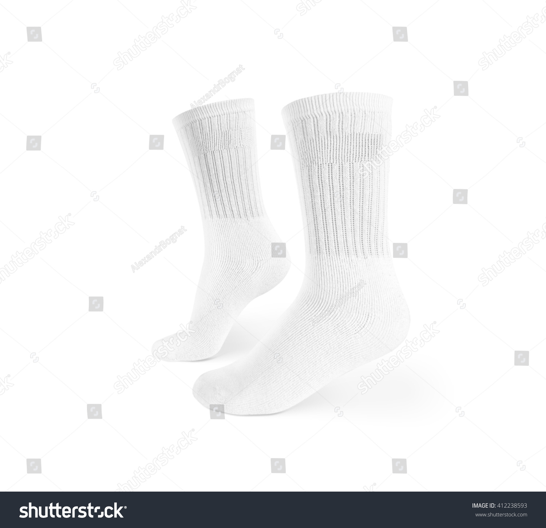 blank white socks design mockup isolated stock photo edit now
