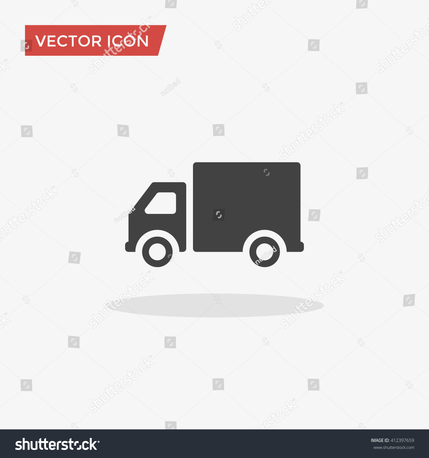 Truck icon trendy flat style isolated stock vector for Truck design app