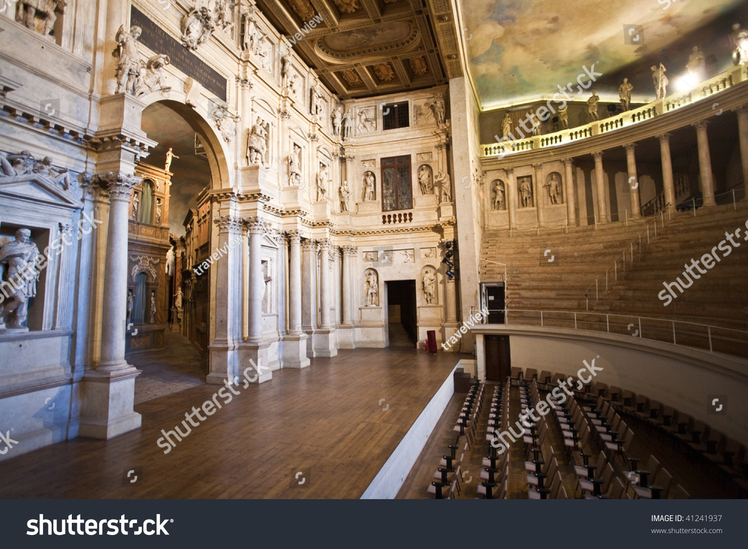 Exterior: Theatro Olympico Vicenca Famous Cealing Paintings Stock