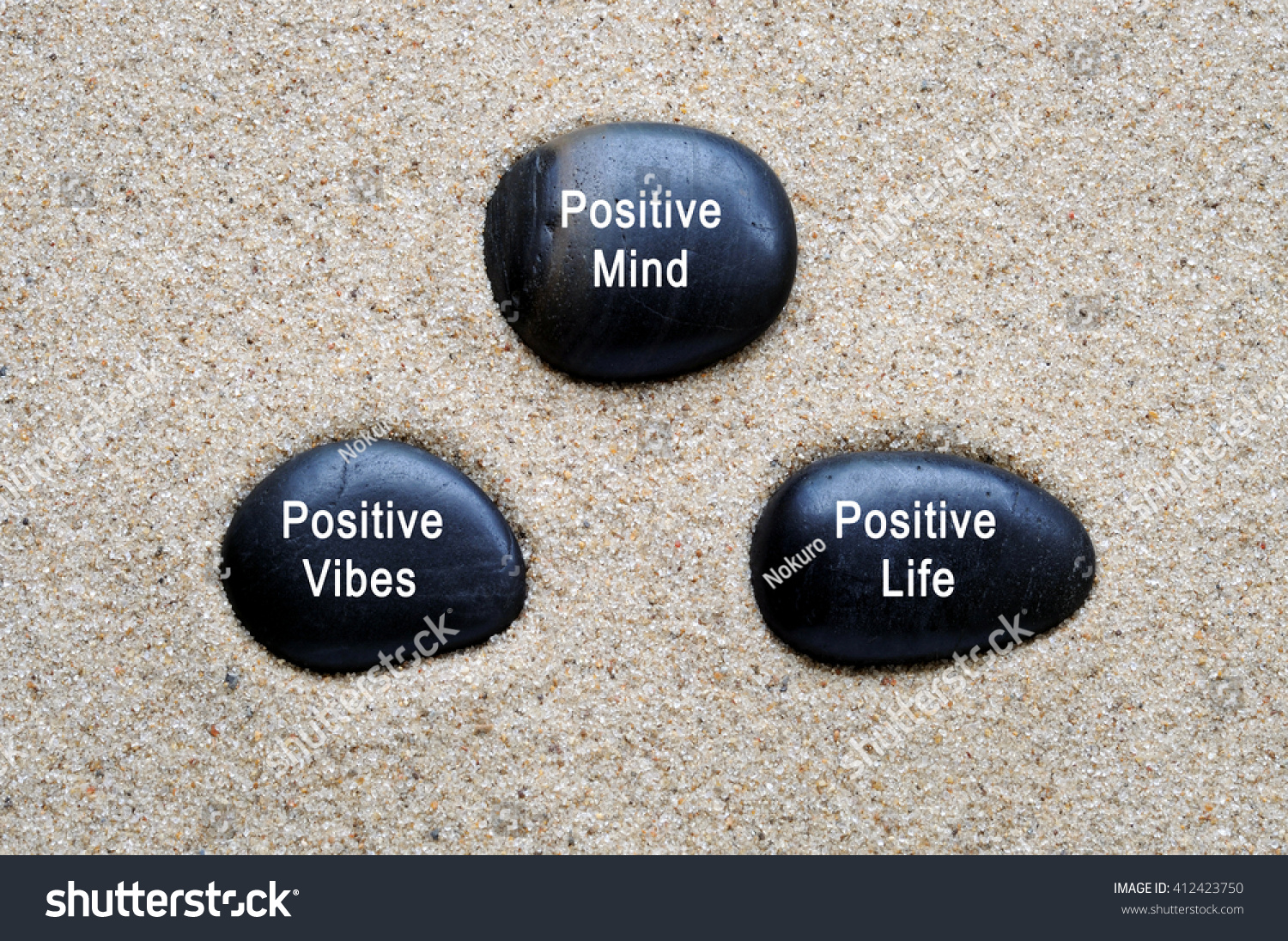 Positive Mind Positive Vibes Positive Life Stock Photo (Edit