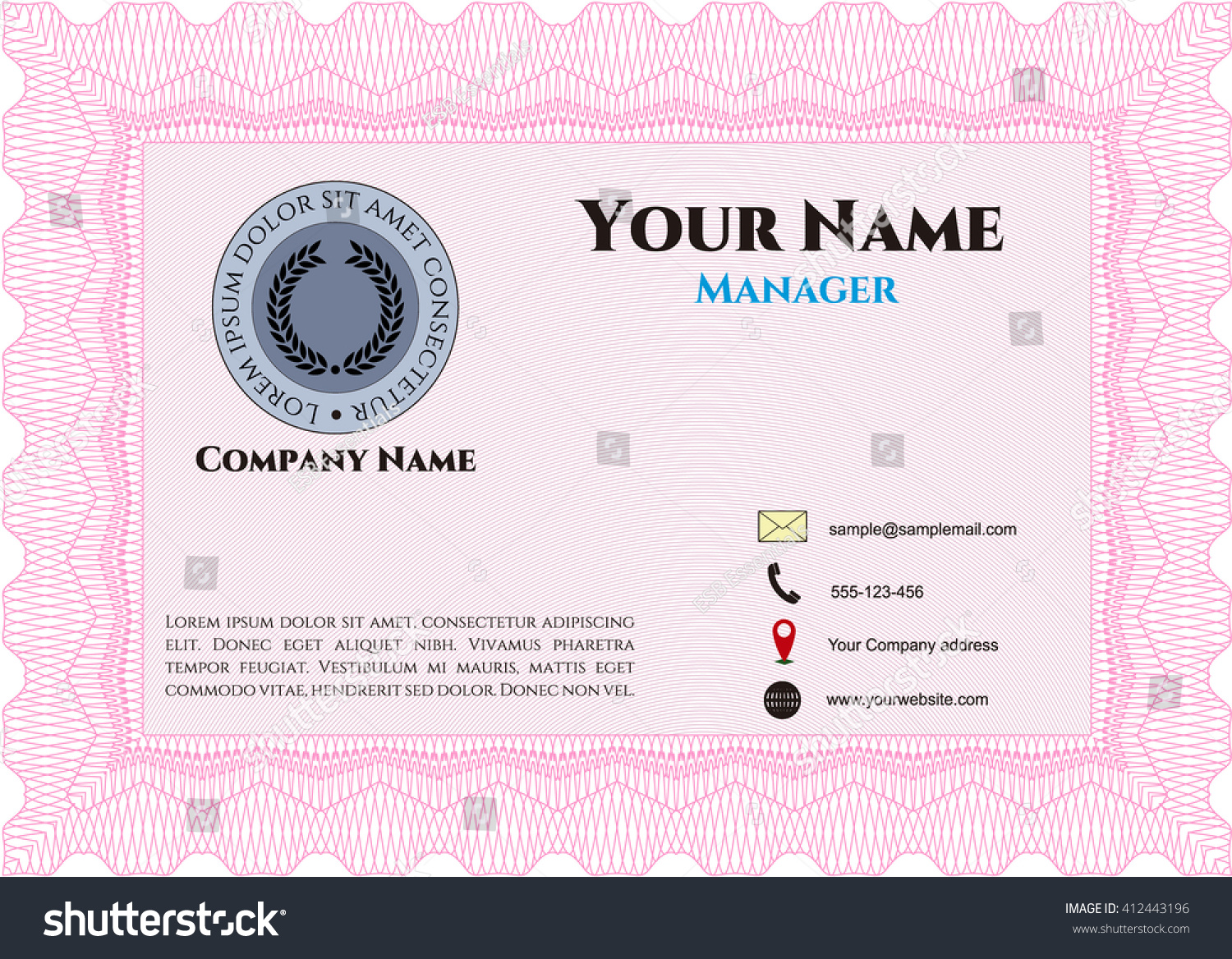 Vintage style business card border frame stock vector 412443196 vintage style business card border frame with linear background beauty design magicingreecefo Gallery