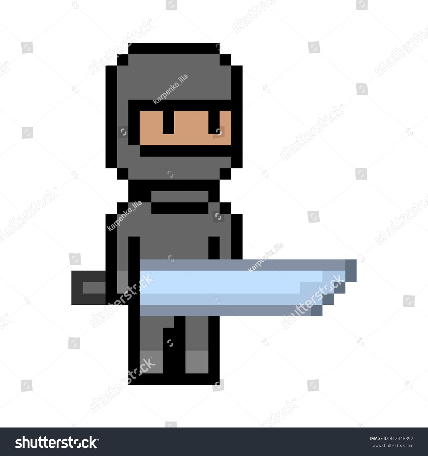 pixel art ninja