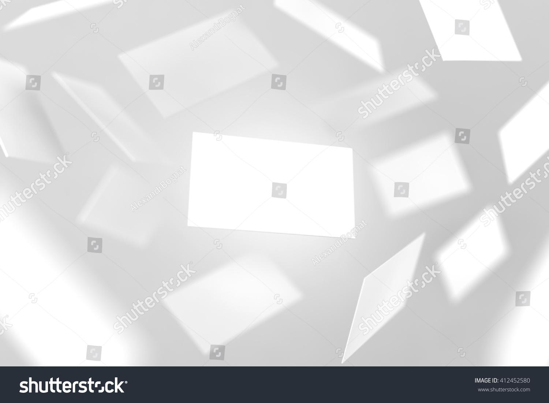 Blank business cards falling 3d rendering stock illustration blank business cards falling 3d rendering namecard design mockup visiting clear cards mock magicingreecefo Images