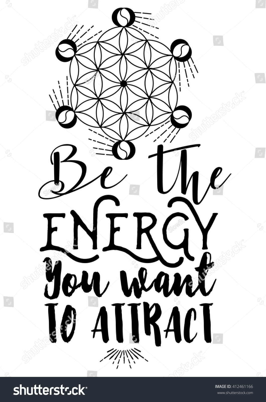 Good Energy Quotes Good Quote Motivation Be Energy You Stock Vector 412461166