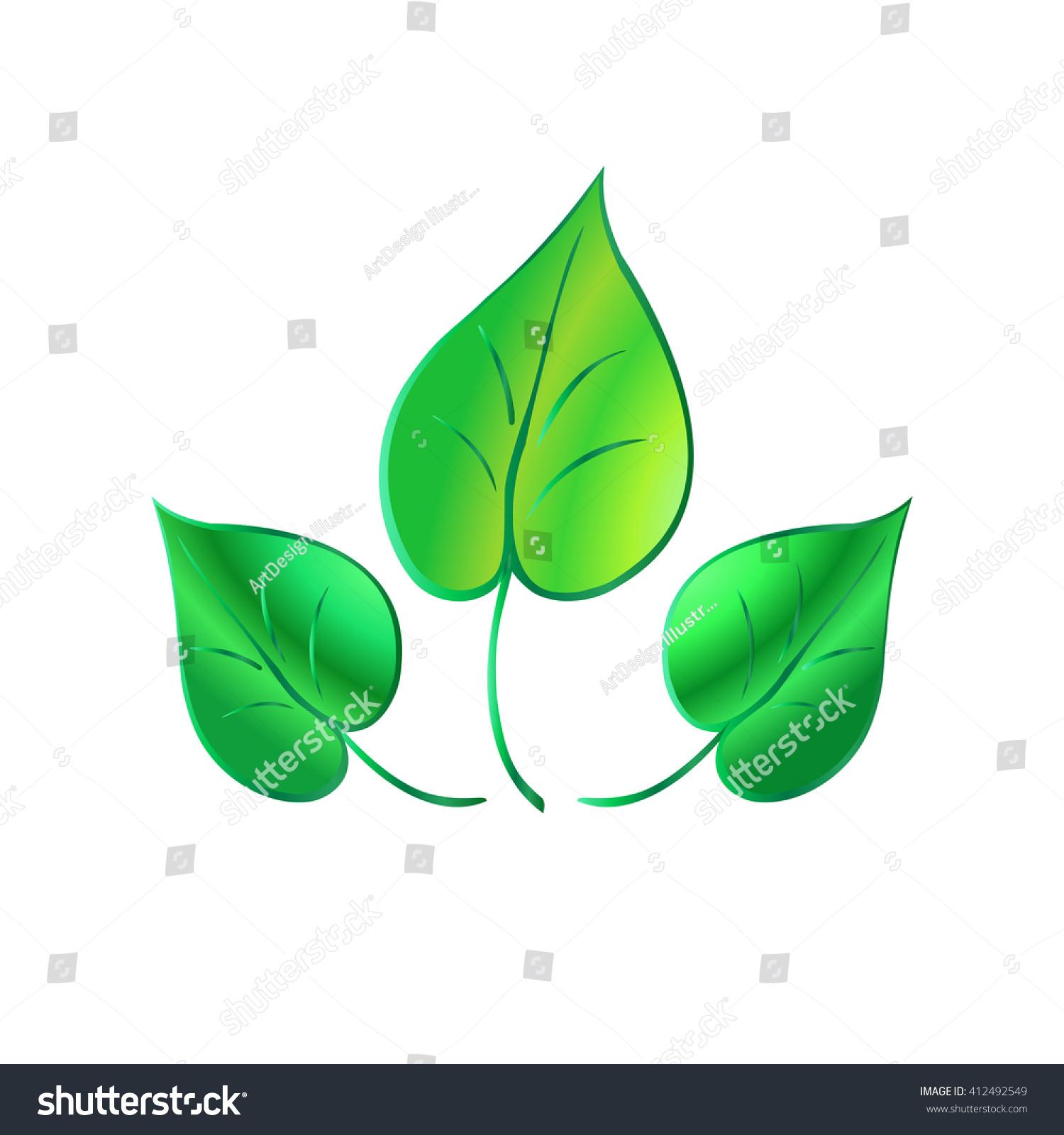 Leaf Leaf Icon Leaf Logo Clip Stock Vector (Royalty Free) 412492549