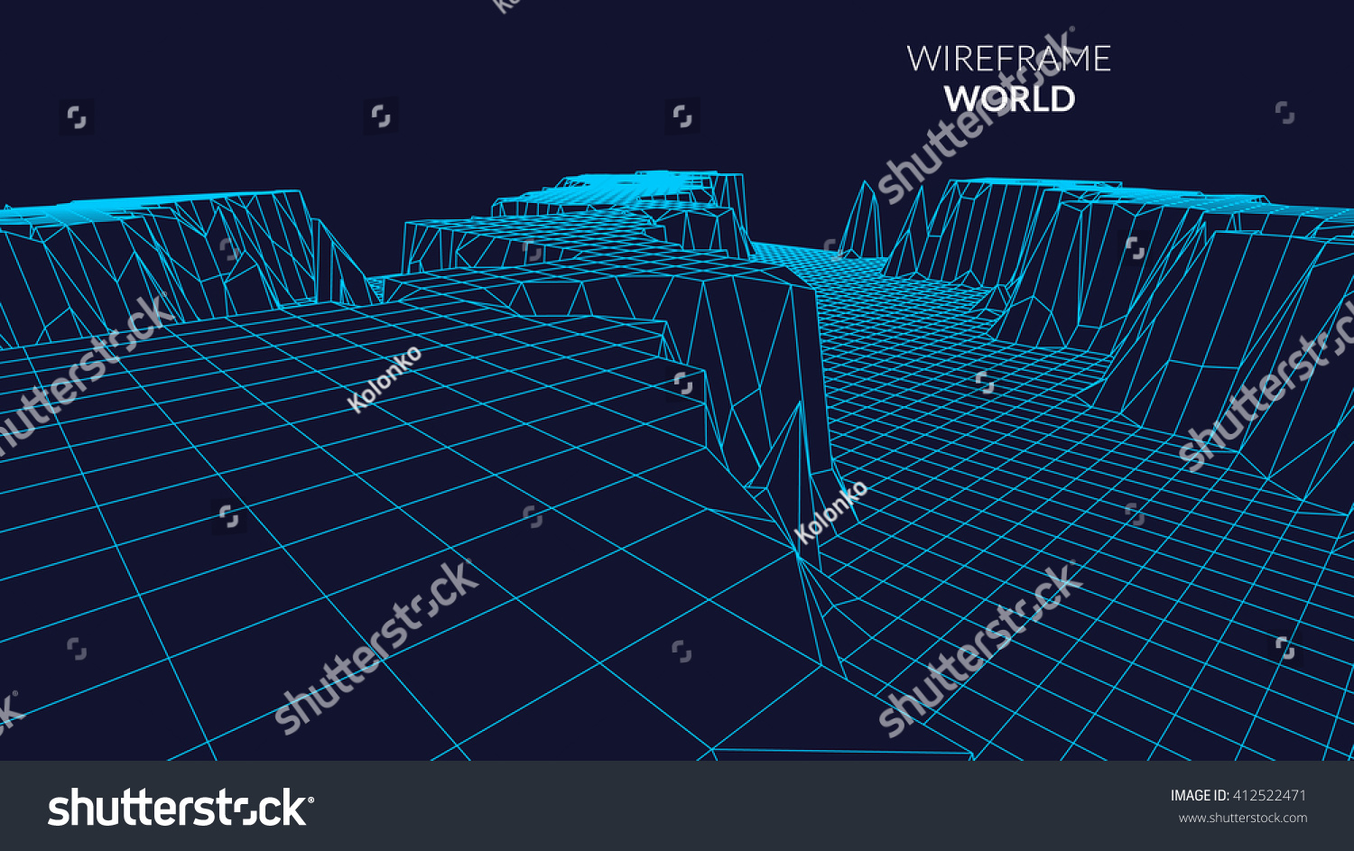 wireframe mountains wireframe landscape mountain background futuristic 1422