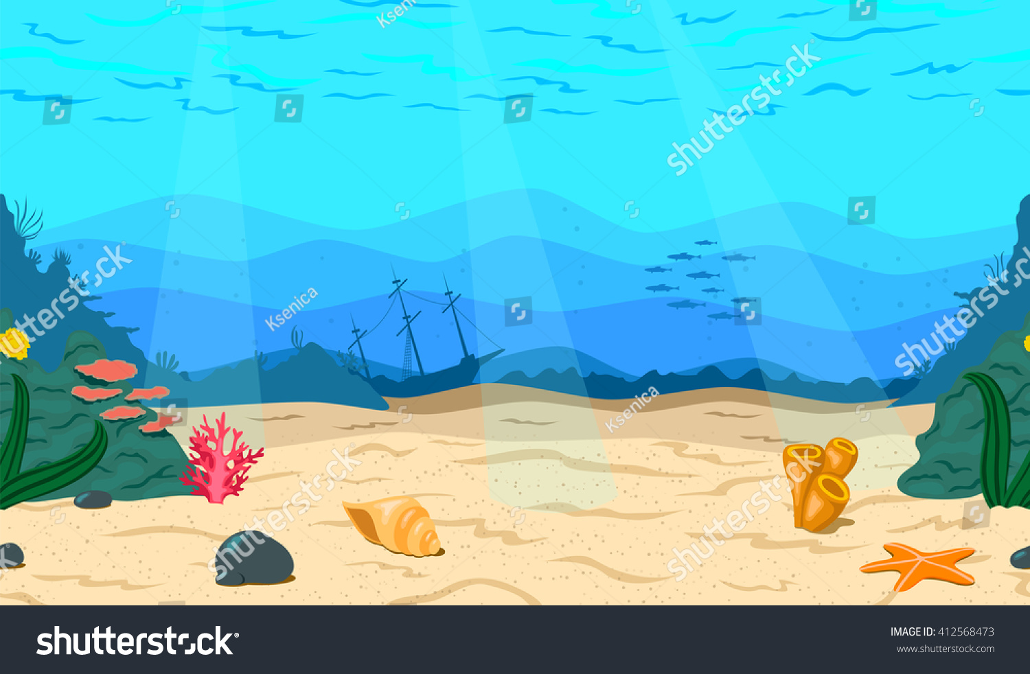 sea bed beach vector - photo #5