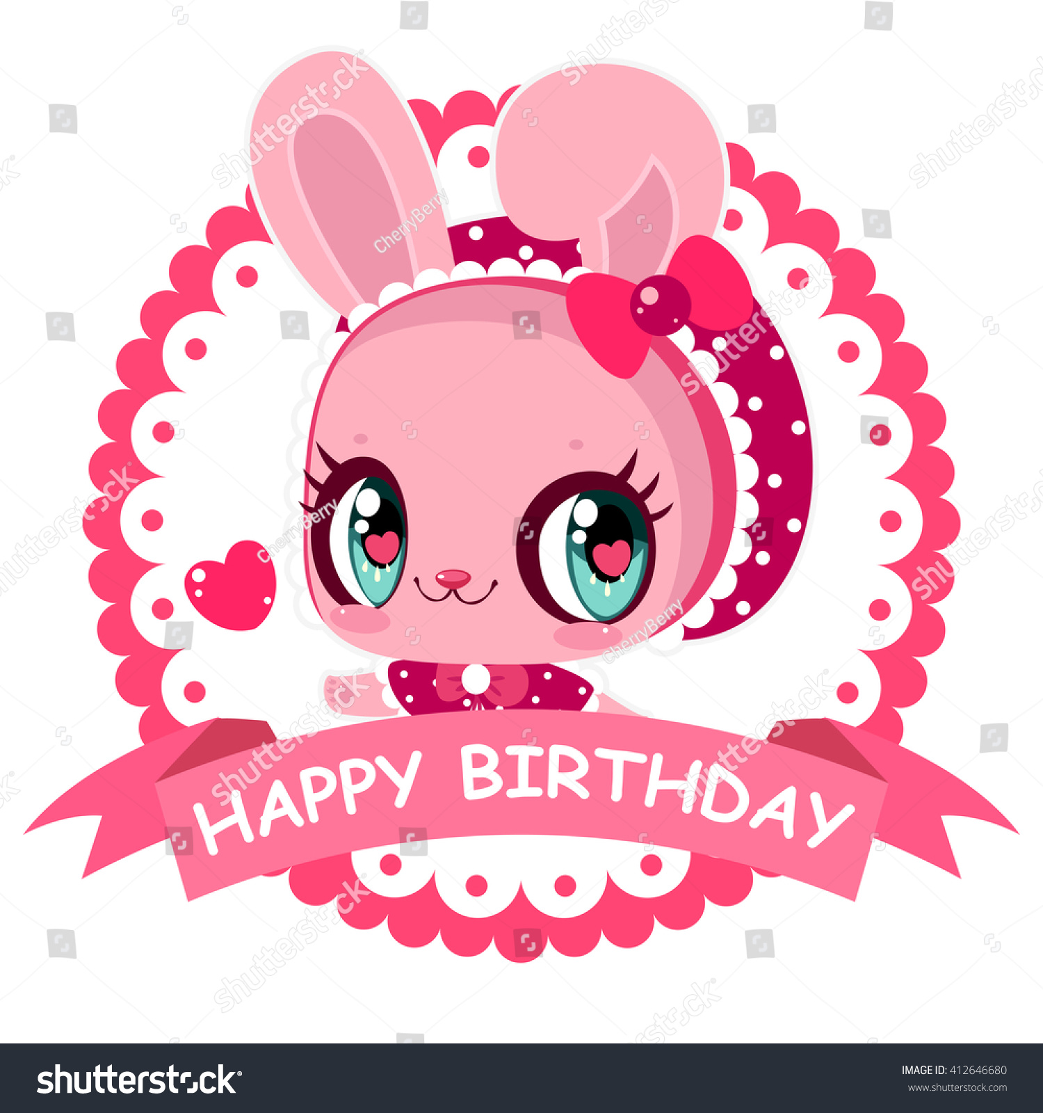 sweet little bunny card happy birthday banner pink girl greeting card with bunny