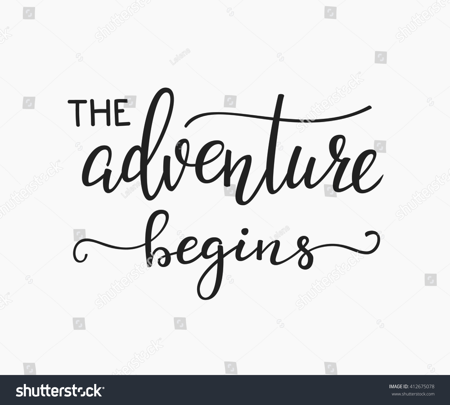 Adventure begins life style inspiration quotes the adventure begins life style inspiration quotes lettering motivational quote typography calligraphy graphic design voltagebd Image collections