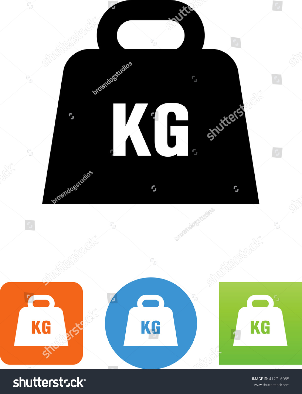 Kg Weight Symbol Stock Vector Royalty Free 412716085 Shutterstock