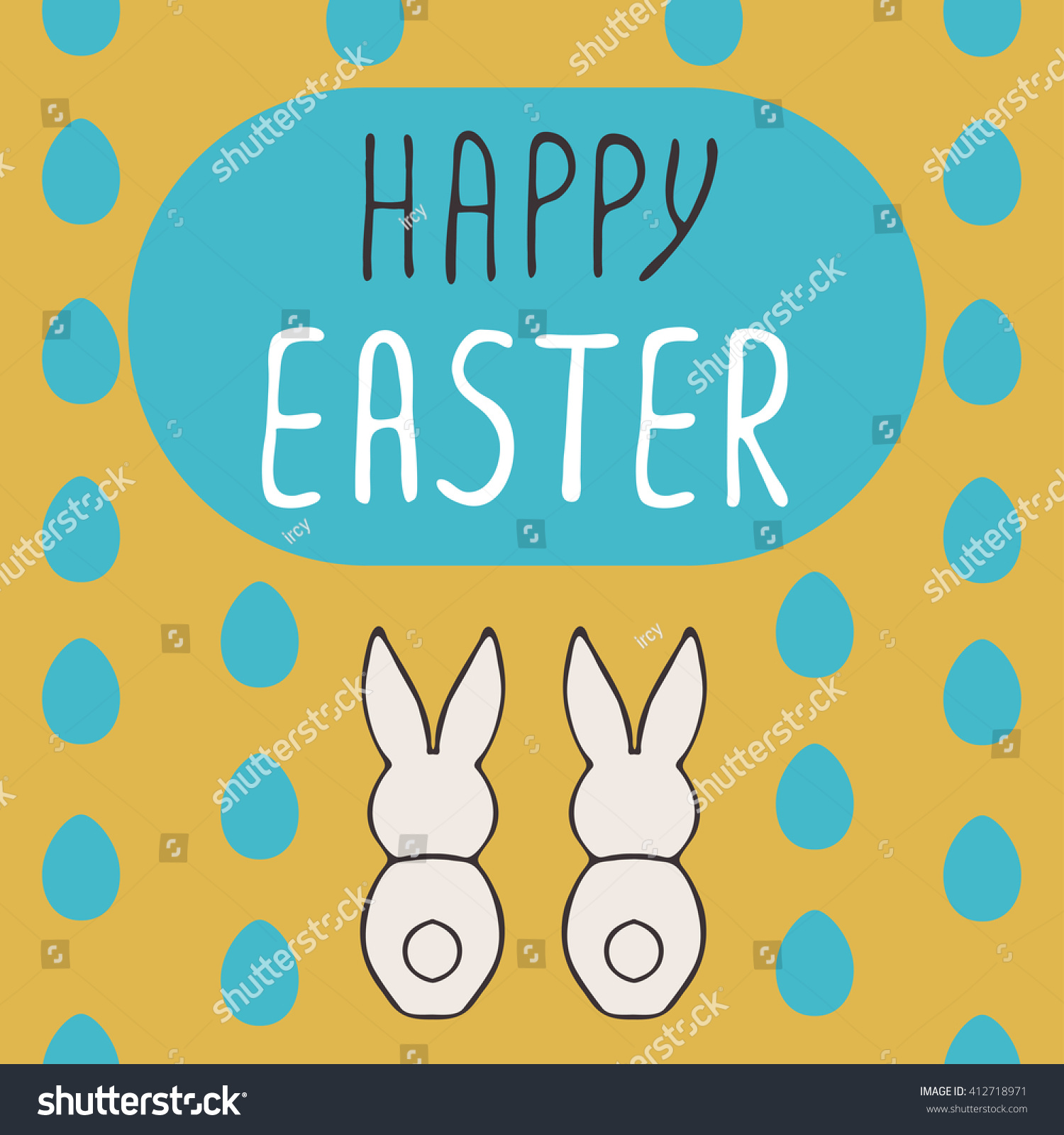 Easter Greeting Cards Hand Drawn Illustation Holiday Symbol Ez