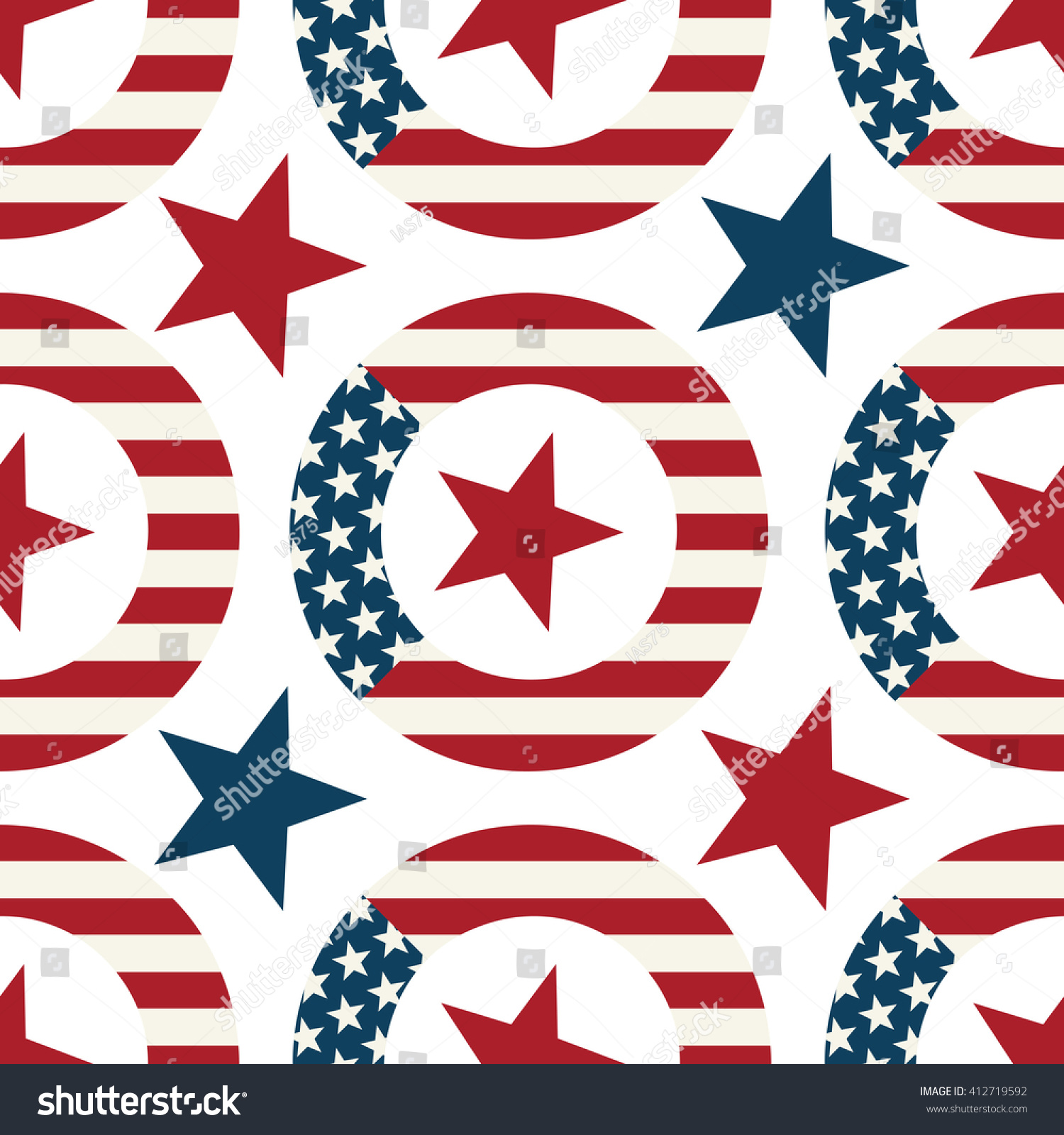 Wreath symbols us flag seamless pattern stock illustration wreath with symbols of the us flag seamless pattern biocorpaavc Images