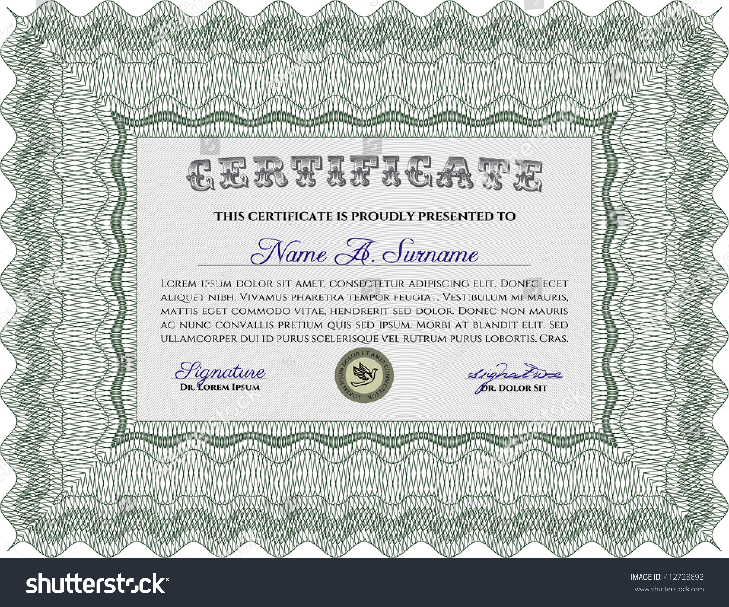 Certificate template customizable easy edit change stock vector certificate template customizable easy edit change stock vector 412728892 shutterstock yelopaper Images