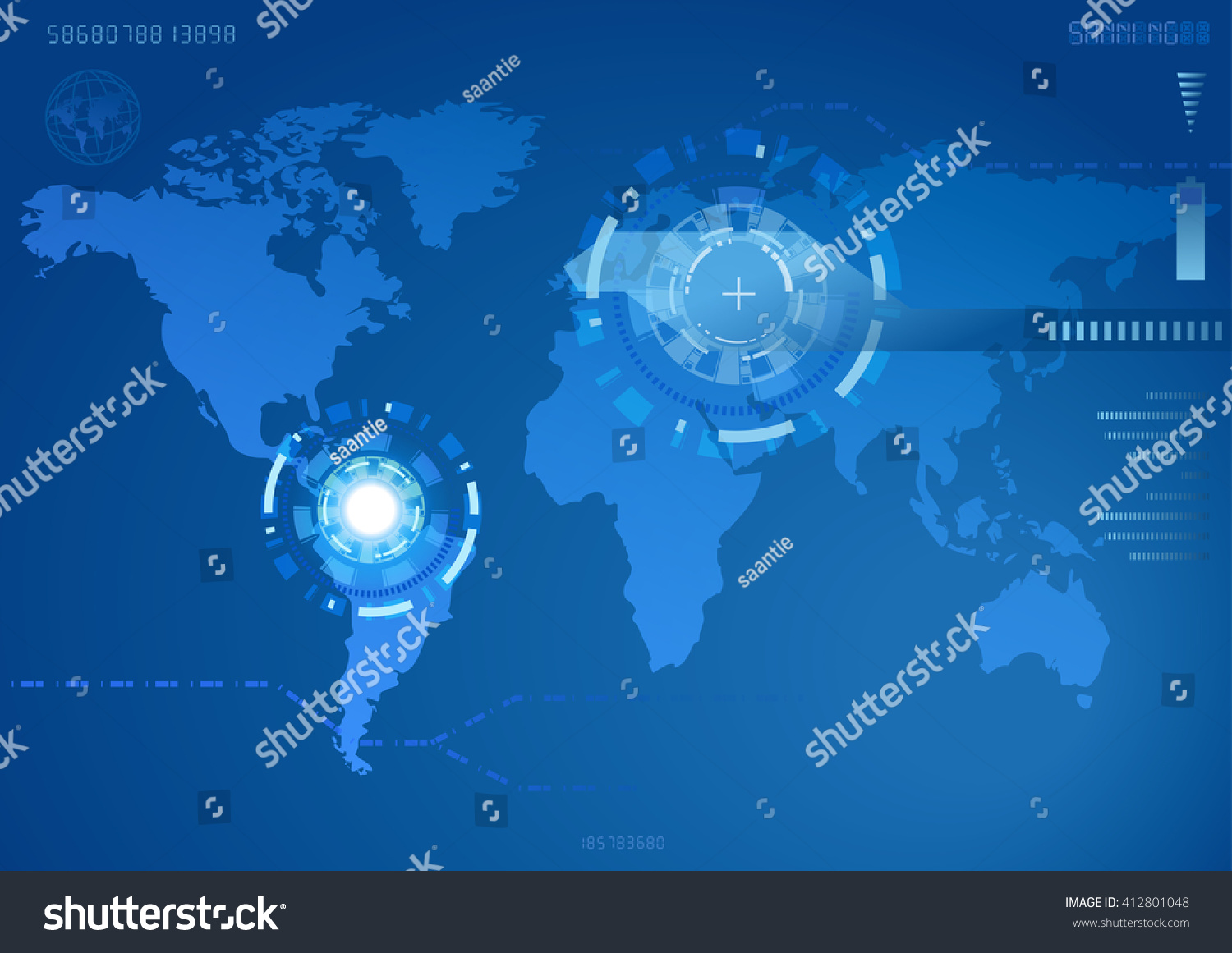 World map view roboteps10 map generated stock vector 2018 world map in view of the roboteps10 map generated using open gumiabroncs Image collections