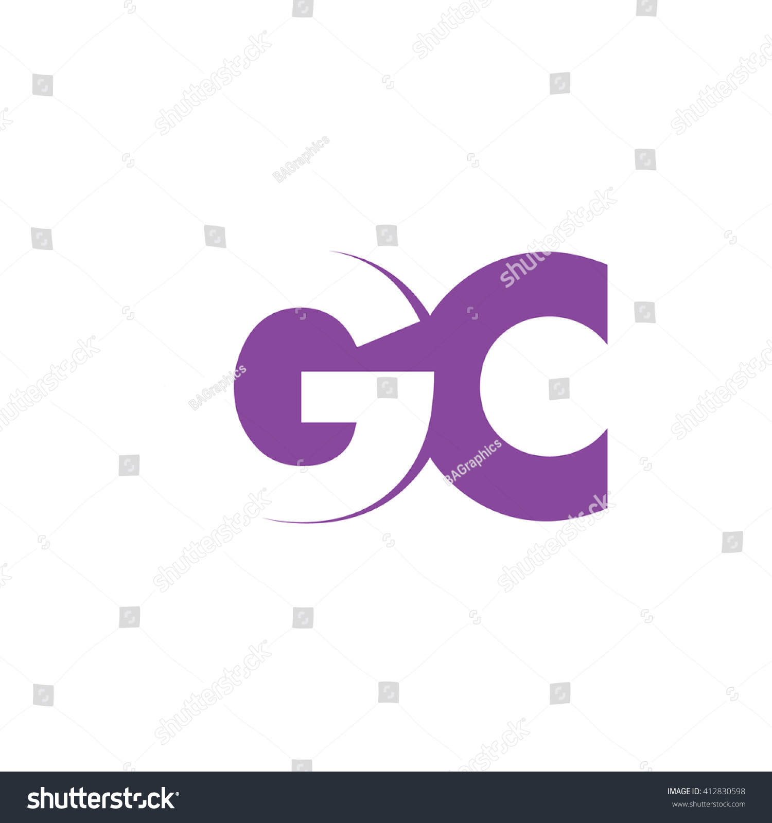 GC Logo Vector Graphic Branding Letter Stock Vector Royalty Free