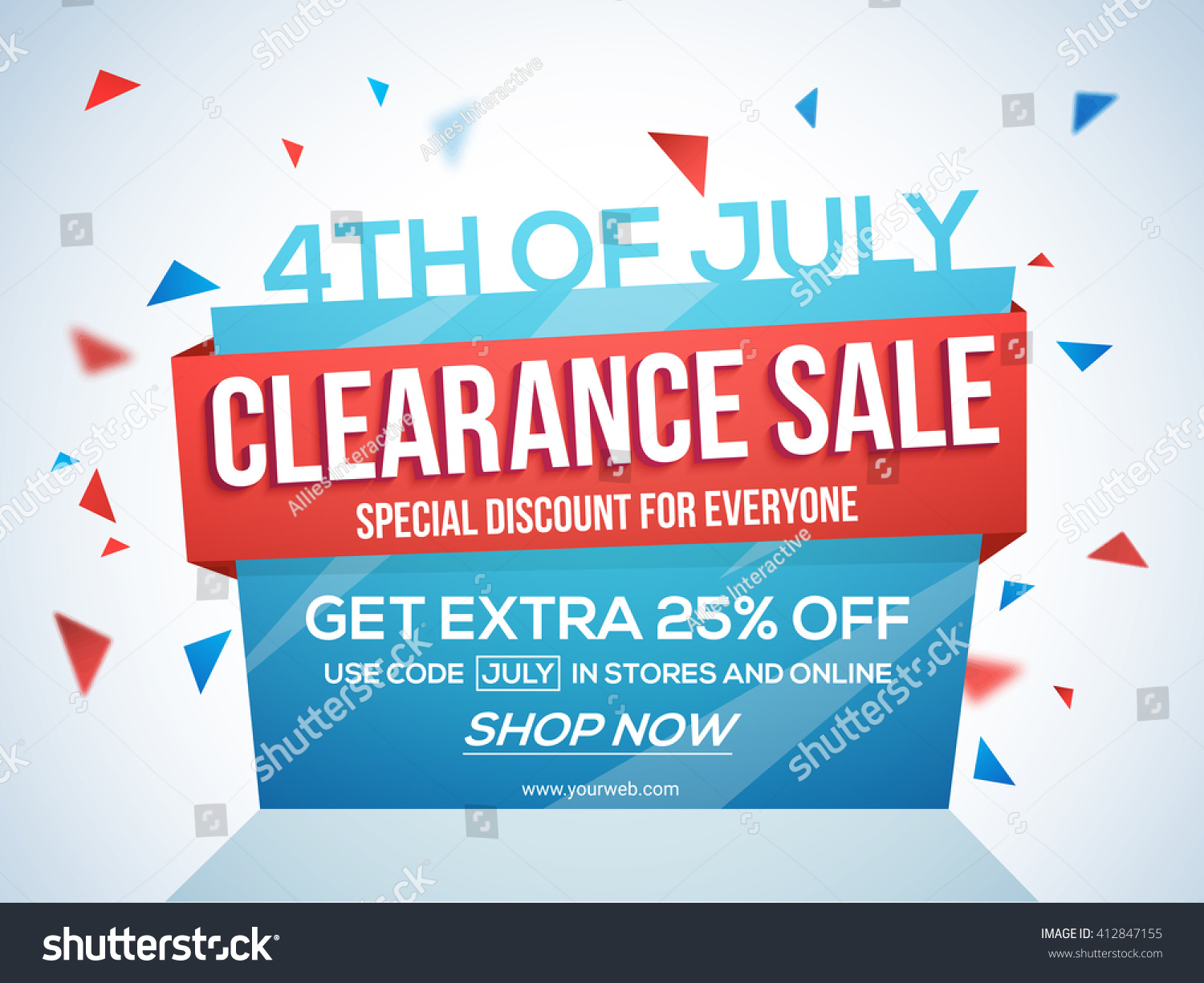 th tag clearance stock vector shutterstock 4th of tag clearance paper banner flyer special discount