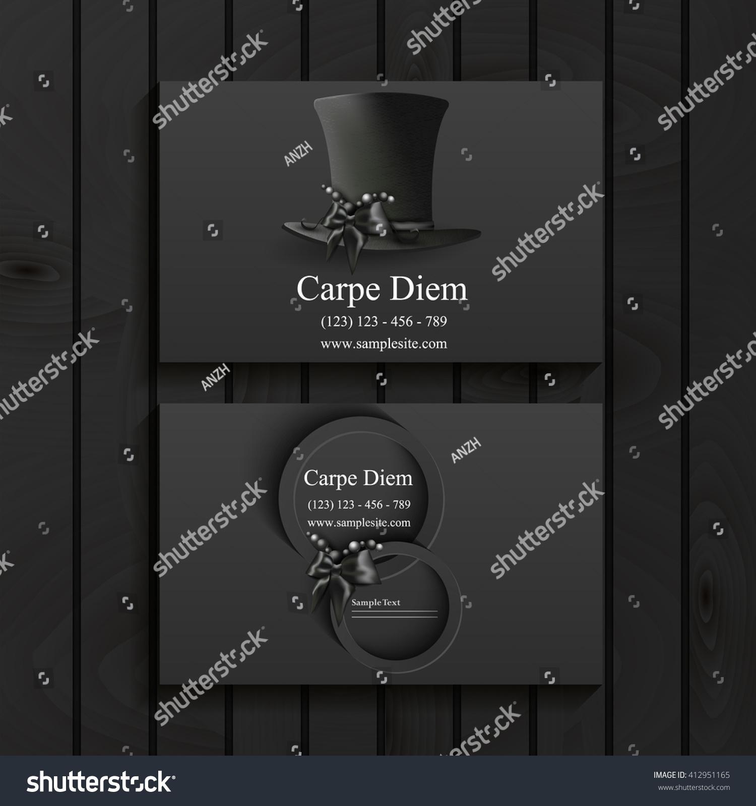 luxury blank matte black business card stock vector