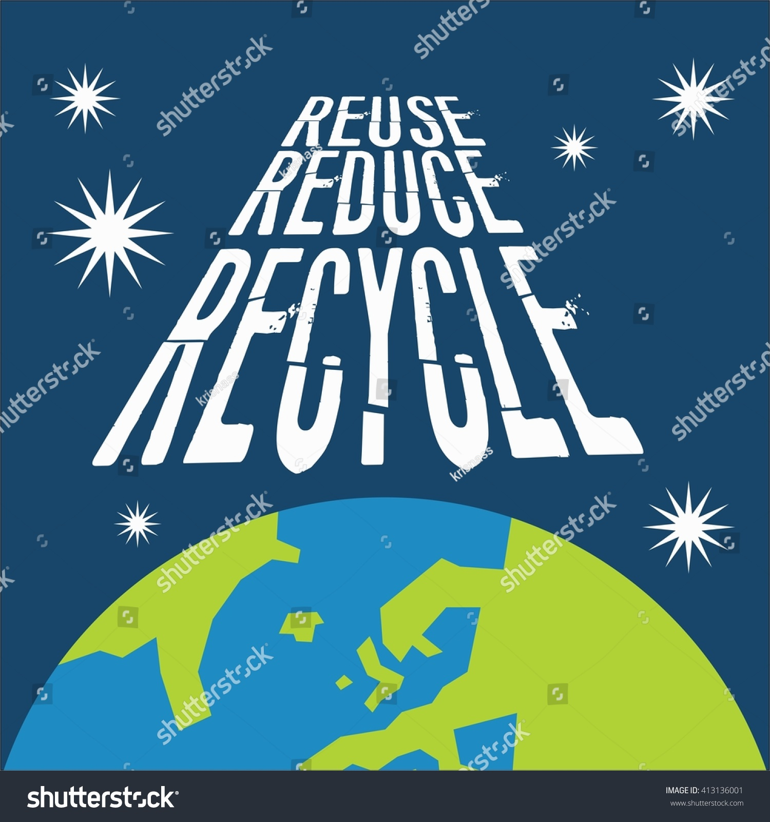 Earth Day Campaign Poster Template Stock Illustration ...