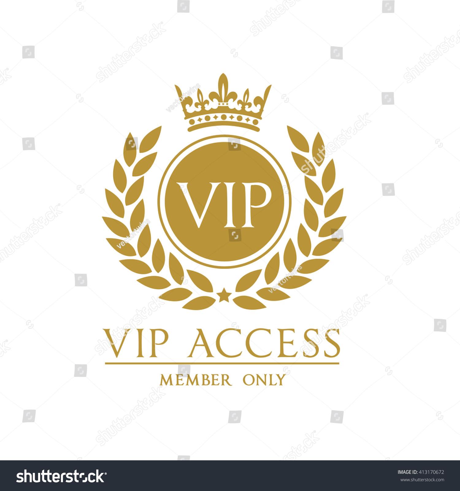 VIP access member logo template Stock Photo 413170672 - Avopix com