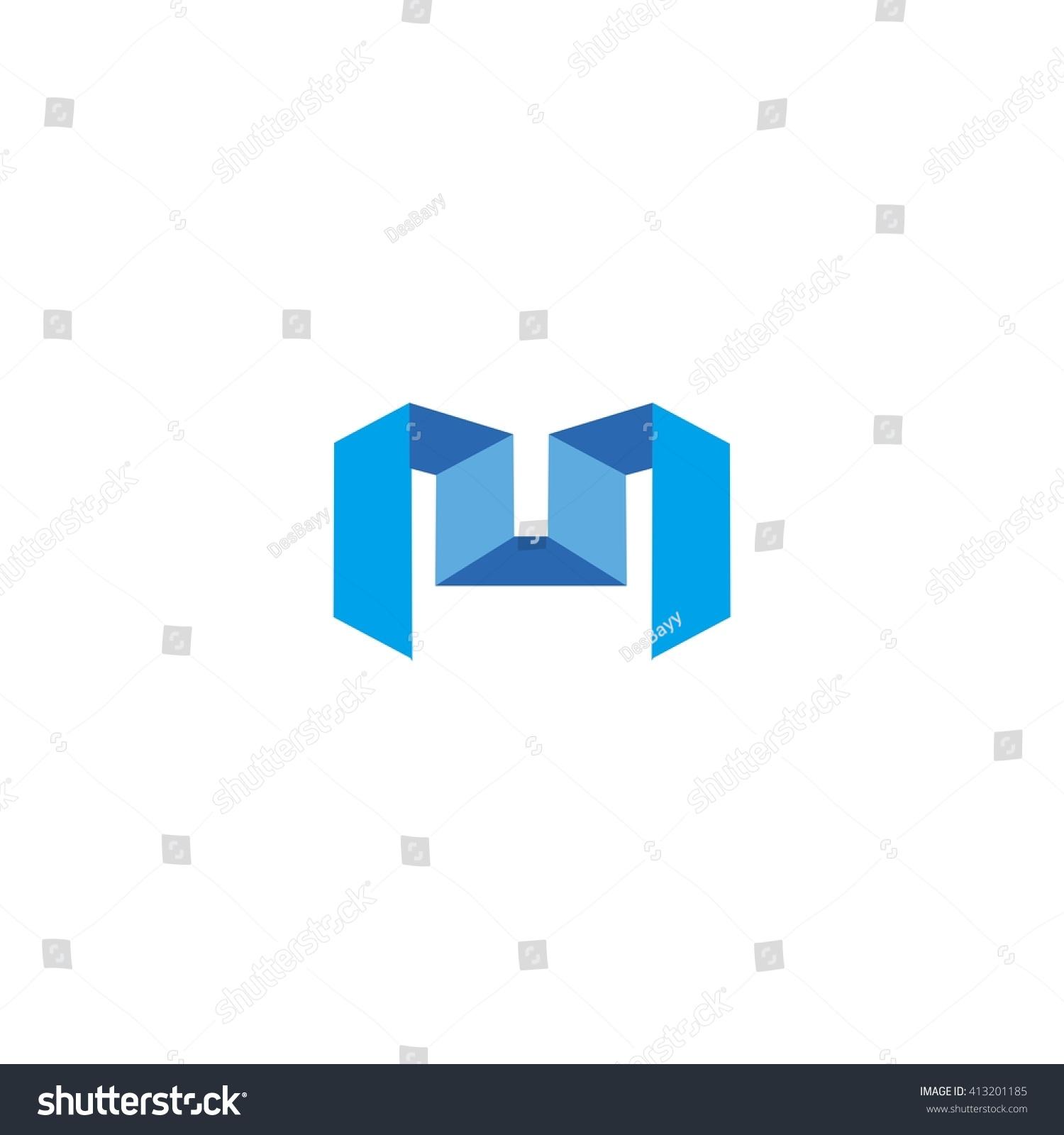 M 3d Logo Letter M 3d Logo Stock...