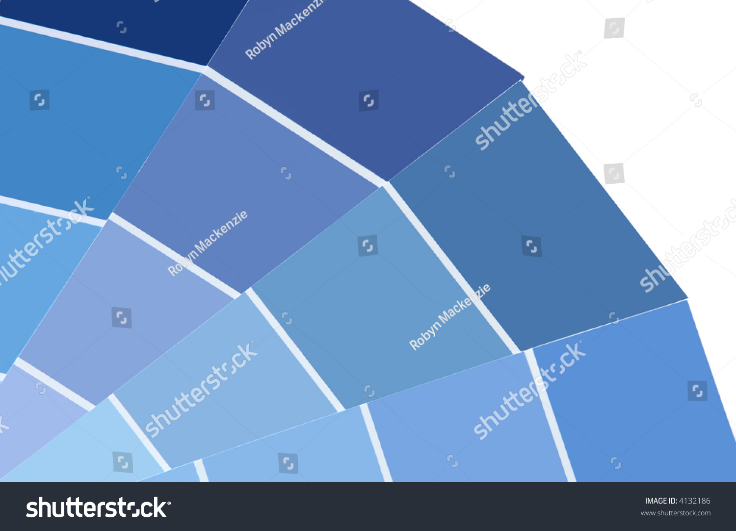 Shades Of Blue Paint Shades Blue Paint Cards Variety Blue Stock Photo 4132186