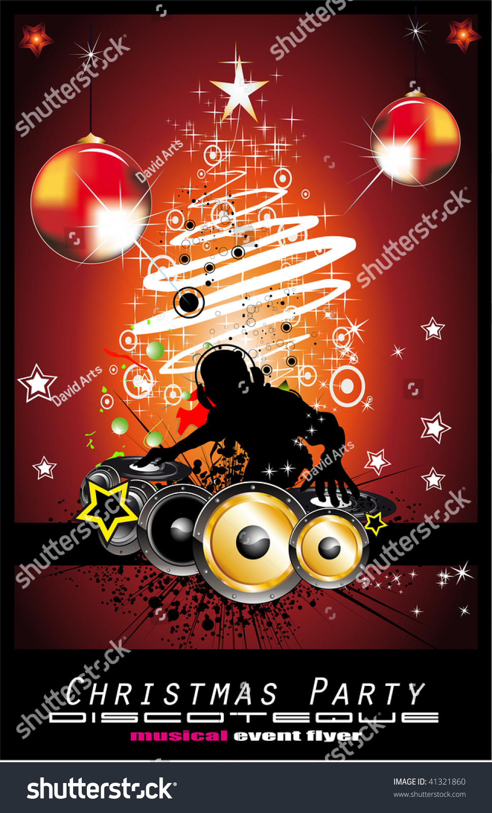 abstract christmas party disco music background stock illustration abstract christmas party disco music background for event flyers